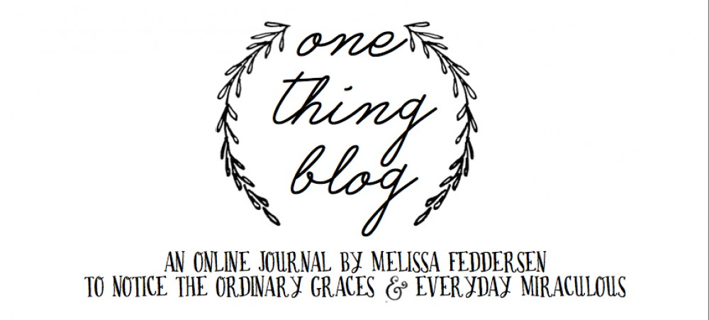 one thing blog